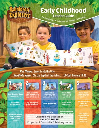Early Childhood Guide Sample | VBS 2020