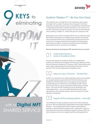 9 keys to eliminating Shadow IT with a digital MFT shared service
