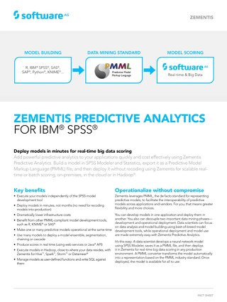 Zementis for IBM® SPSS®