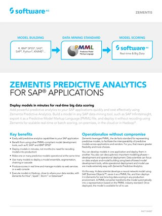 Zementis for SAP® applications