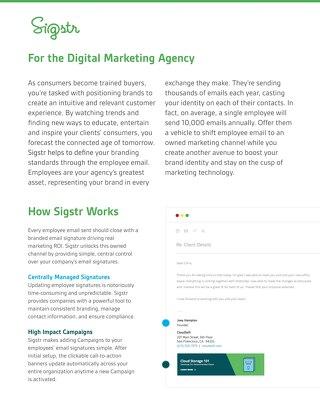 Sigstr for Digital Marketing Agencies