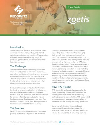Case Study: Zoetis International – Streamlining Global Marketing Operations