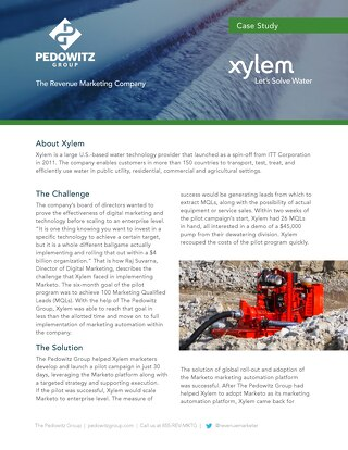 Case Study: Xylem Digital Marketing