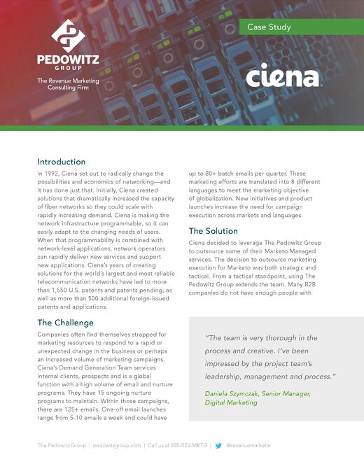 Case Study: Ciena Marketo Managed Services