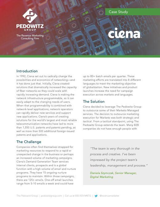 Case Study: Ciena Marketo Managed Services
