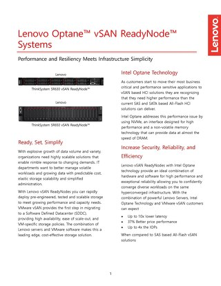 Lenovo vSAN Ready Node