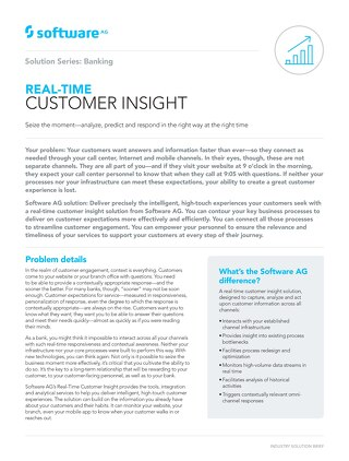 Real-time Customer Insight