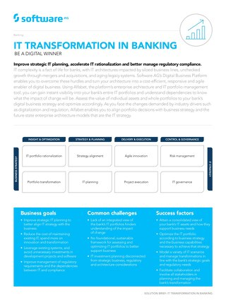 IT Transformation for Banking