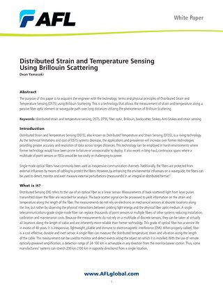 Distributed Strain and Temperature Sensing Using Brillouin Scattering