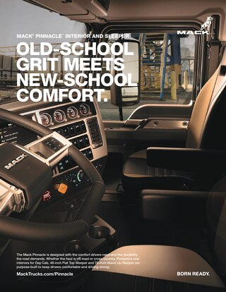 Mack Pinnacle Interior