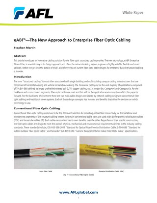eABF®—The New Approach to Enterprise Fiber Optic Cabling