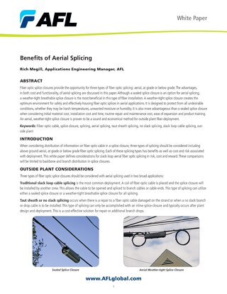 Benefits of Aerial Splicing