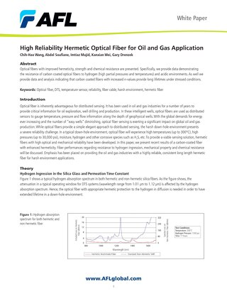 High Reliability Hermetic Optical Fiber for Oil and Gas Application