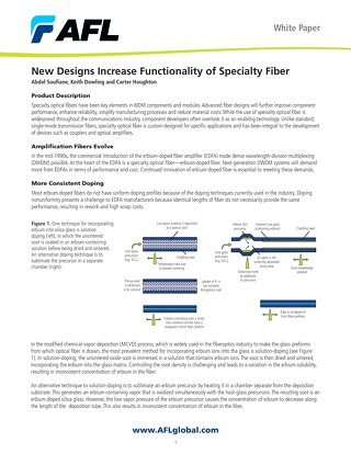 New Designs Increase Functionality of Specialty Fiber