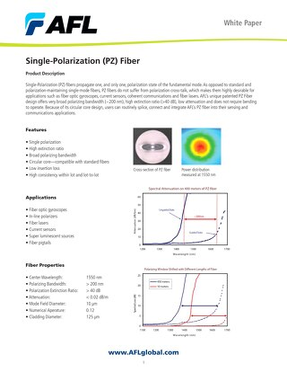 Single-Polarization (PZ) Fiber