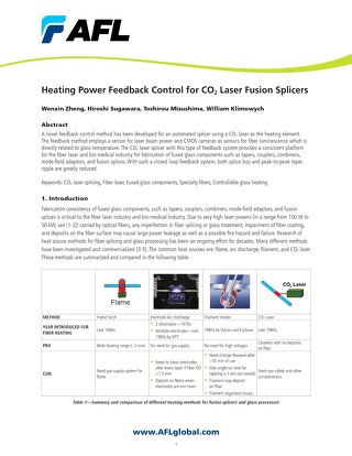 Heating Power Feedback Control for CO2 Laser Fusion Splicers