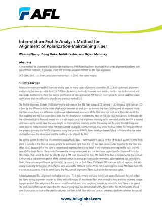 Interrelation Profile Analysis Method for Alignment of Polarization-Maintaining Fiber