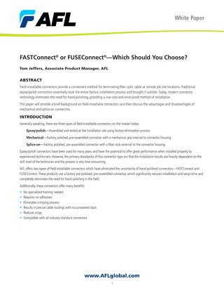 FASTConnect® or FUSEConnect®—Which Should You Choose?
