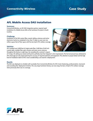 AFL Mobile Access DAS Installation
