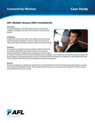 AFL Mobile Access DAS Installation