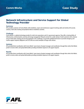 Network Infrastructure and Service Support for Global Technology Provider