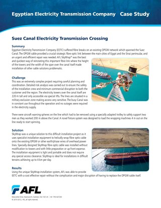 Suez Canal Electricity Transmission Crossing