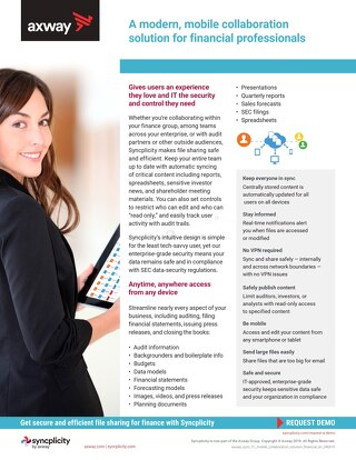 Syncplicity for Financial Professionals