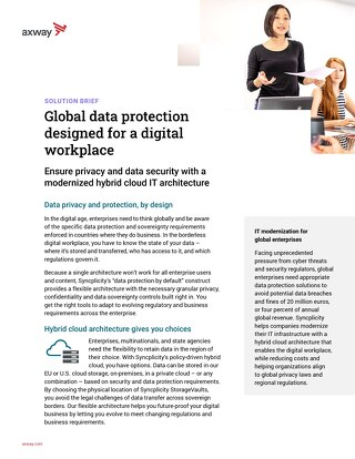Global Data Protection Designed for a Digital Workplace
