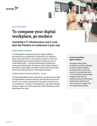 To Compose your Digital Workplace, Go Modern