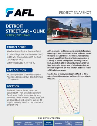 Detroit Streetcar Project Snapshot