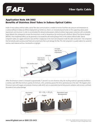 Benefits of Stainless Steel Tubes in Subsea Optical Cables