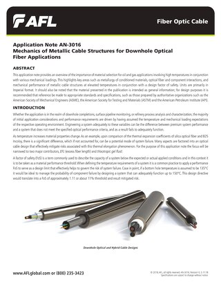Mechanics of Metallic Cable Structures for Downhole Optical Fiber Applications