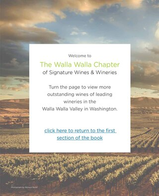 Signature Wines & Wineries of Washington (Walla Walla Chapter)