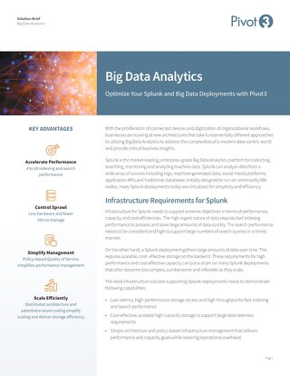 [Solution Brief] Optimize Your Splunk and Big Data Deployments with Pivot3
