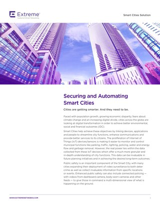 Securing and Automating Smart Cities