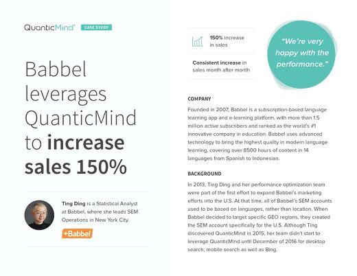 QuanticMind Customer Success Story - Babbel