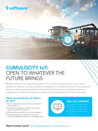 Cumulocity IoT: Open & independent