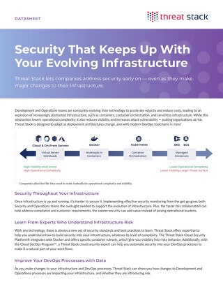 Build Security into Your Evolving Infrastructure
