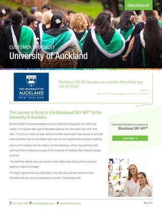 University of Auckland & SKY API