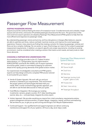 Passenger Flow Measurement