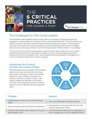 6 Critical Practices