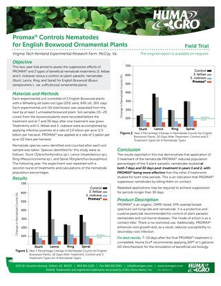 Promax Controls Nematodes for English Boxwood (HG)