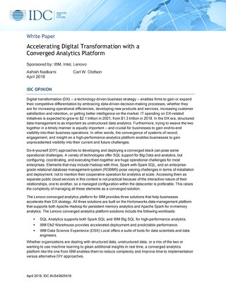 Accelerating Digital Transformation with a Converged Analytics Platform