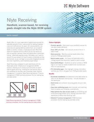 Nlyte Receiving