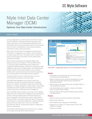 Nlyte Intel Data Center Manager (DCM)