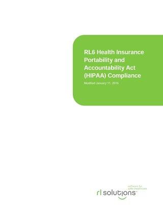 RL6 HIPAA Compliance