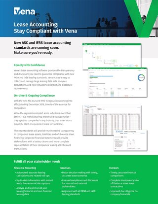 Vena Lease Accounting Datasheet