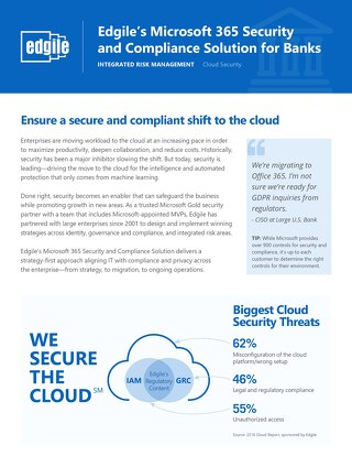 Edgile's Microsoft 365 Security and Compliance Solution for Banks
