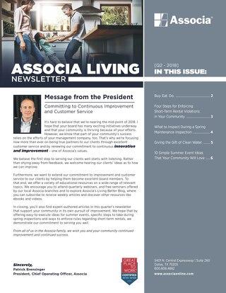 Associa 2018 Q2 Newsletter