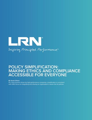 Policy Simplification: Making Ethics & Compliance Accessible for Everyone